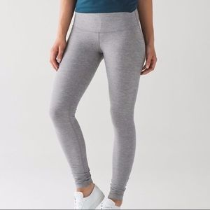 lululemon Wunder Under Heathered Grey Leggings